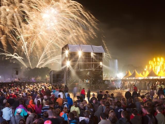 Festival des vieilles charrues, feux d'artifice
