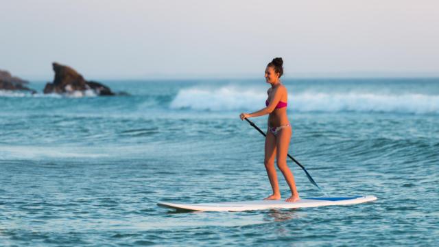 Paddle sur la côte