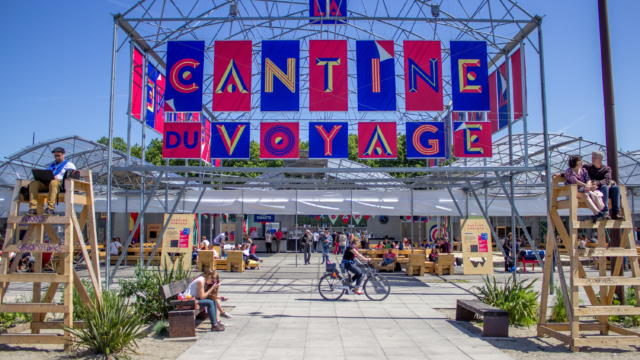La Cantine du Voyage, dans le cadre du Voyage à Nantes 2015 - habillage du lieu par Appelle-moi papa © Matthieu Chauveau / LVAN
