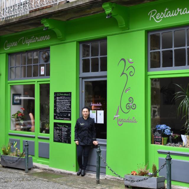 Annadata : Devanture et Chef Myriam Domange