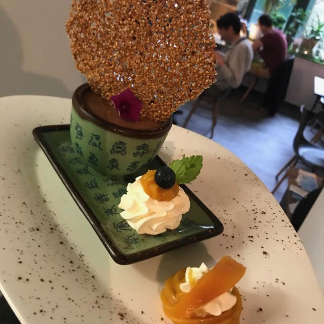 Annadata : Mousse au chocolat vegan et orange confite