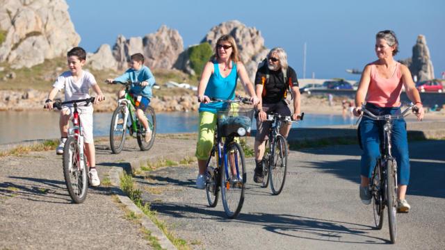 Plougrescant, le Tour de Manche à vélo