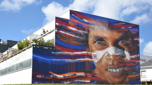Fresque Matt Adnate à Saint-Nazaire