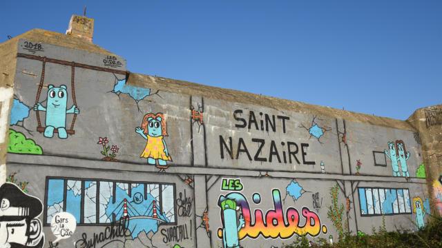 Les Oides Fresque Blockhaus Ak à Saint-Nazaire