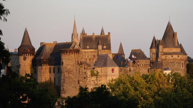 Vue sur le château de Vitré
